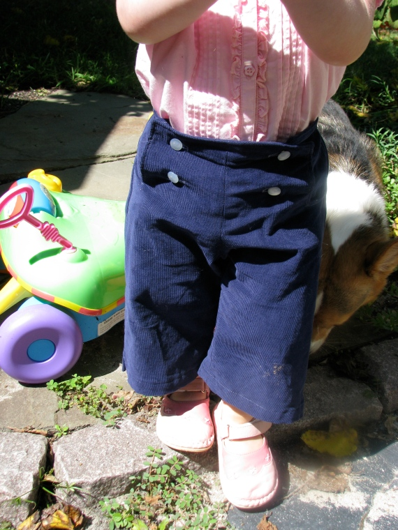 Oliver + S sailboat pants, size 2T